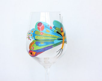 The Hungry Caterpillar Wine Glass