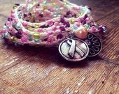 I'm a Survivor: Versatile crocheted necklace / bracelet / belt / headband