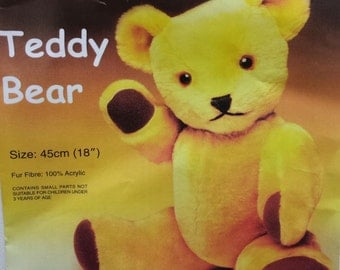 Large Teddy Bear Soft Toy Kit - Make Your Own Traditional Jointed Cuddly Bear - New Baby Gift