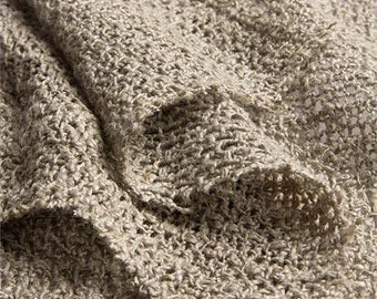 2016: woven heavy linen curtain / drape in natural