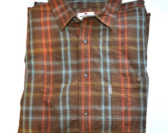 Mens vintage  Woolrich shirt Size XXL winter cotton shirt Big and Tall shirt  plaid cotton shirt  Hunting jacket Fathers gift