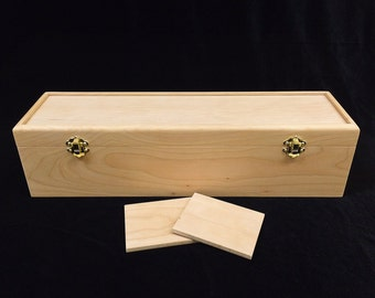Magic the Gathering Unfinished Wood Box with Hinges & Latches-16 3/4 x 4 1/2 x 4 1/4