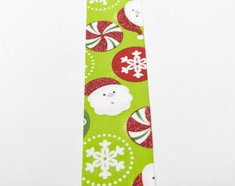 1.5 inch Green Solid Ribbon, with Santa & Candy Christmas Dollmaking Waldorf Doll Hair Hair Bows Wide Ribbon Dress Sewing Hat Making
