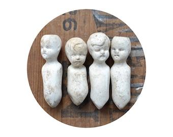 ONE small vintage doll, doll parts, antique doll, assemblage supply, broken doll, frozen charlotte, from Elizabeth Rosen