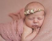Blush Pink Merino Knit Newborn stretch wrap