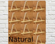 10 Natural Mini Easel Custom Color for Aceo Art Mini Paintings Small Wood Easels for Miniature Place Card Holder Small Table Number Holder