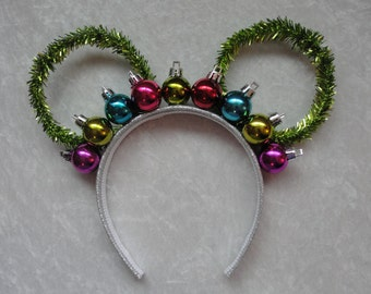 Holiday Ornament Crown Mickey Ears