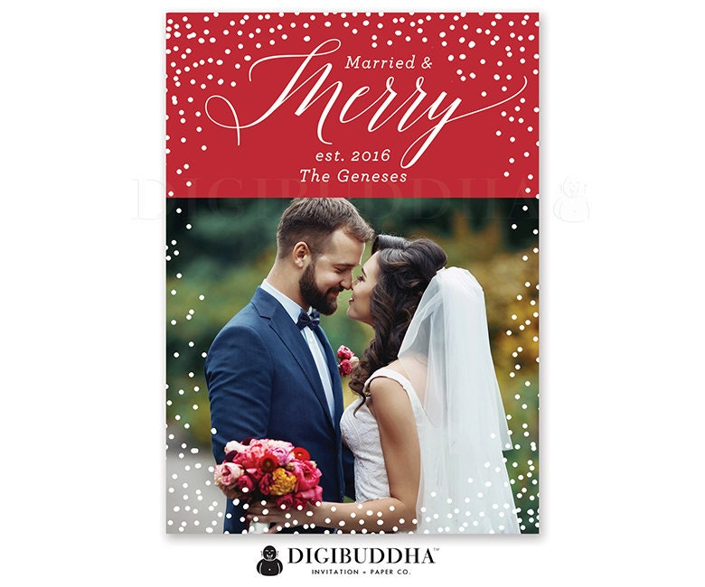 Married And Merry Christmas Card. christmas cards with minted ...