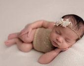 Knitting Pattern - Open Back V shaped Newborn Onesie - Newborn Photography Prop
