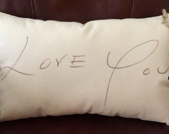 Personalized Pillow In Your Handwriting On Canvas