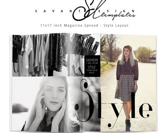 Photography Template, Session Style Magazine Spread Template for Photographers, MS10, INSTANT DOWNLOAD