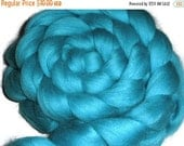 "TdF16 sale South American Merino Wool Roving - Spinning And Nuno Felting Fiber - ""Aqua"""