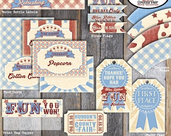 County Fair Favor Tags | Country Fair Favor Tag | County Fair Party Favor | Carnival Favor Tag | County Fair Birthday Party | Printable
