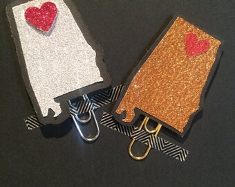 LAST CHANCE!! Sparkly State Paper Clip