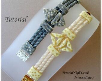 SEKHMET beaded bracelet beading tutorial beadweaving pattern seed bead beadwork jewelry beadweaving tutorials beading pattern instructions