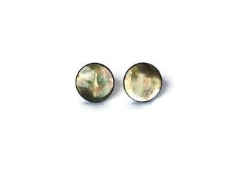 Tahitian Pearl Gray Stud Earrings