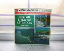 3 Vintage Viewmaster Reels of Juneau Sitka and Ketchikan Alaska 1970s