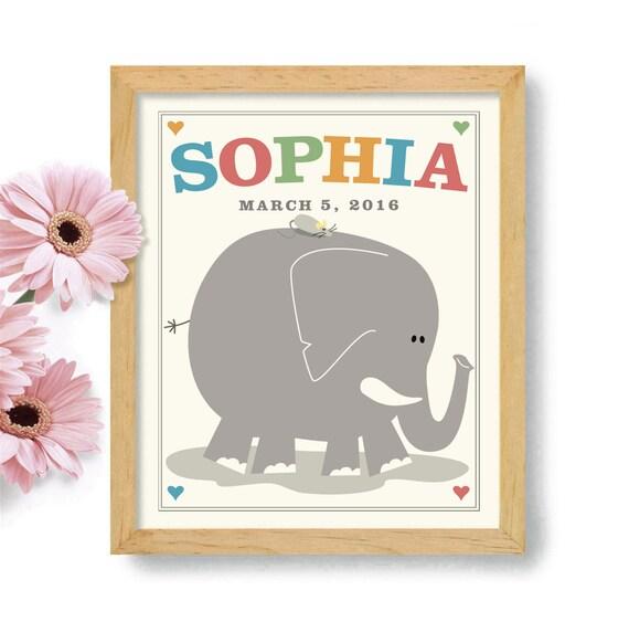 ... Newborn Baby Kids Room Art Personalized Nursery Decor New Mother Gift