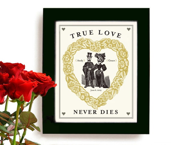 Halloween Wedding Gift Ideas: Day Of The Dead Halloween Unique Wedding Gift For Unusual