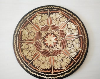 egyptian copper plate, carved copper plate, handmade metal plate, wall plate
