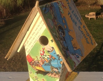 """The """"Little Engine that Could"""" Birdhouse"""