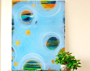 Contemporary art abstract art modern painting blue abstract painting modern art blue decor original large canvas