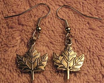 Silver Autumn Leaves Earrings
