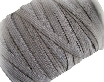"ON SALE 1/4"" Gray Elastic. 5 Yards"