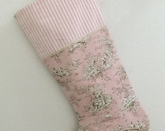 """Extra, Extra Large """"Bring Baby Girl Home"""" Christmas Stocking"""