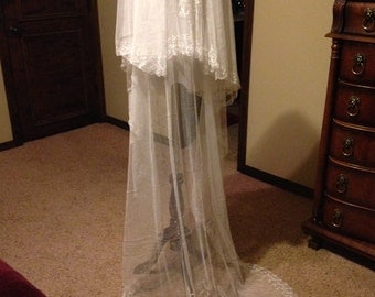 Fantastic Edwardian Tambour Wedding Veil