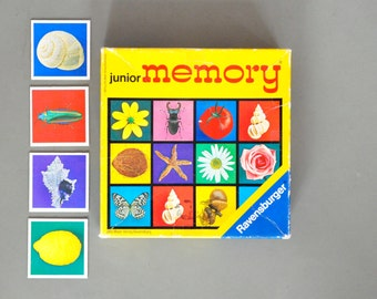 Vintage memory game with nature photos | children's gift | vintage toy | craft supplies