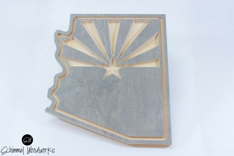 Copper Wall Art Home Decor : Arizona state flag wall art decor copper