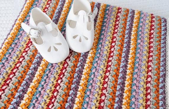 Dk Crochet Patterns : crochet baby blanket pattern Aida cotton dk PDF pattern unisex ...