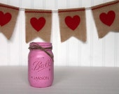Rustic Vintage Painted Pint-Sized Mason Jar