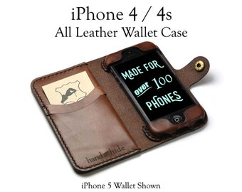 iPhone 4/4s Leather Wallet Case, iphone 4 case, iphone 4s wallet, leather iphone 4 case, custom iphone 4s case