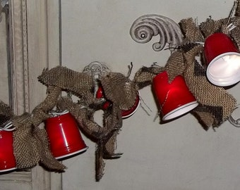 Red Cup, Lights, Party Lights, 15 Feet,  Red Solo Cups  , Mini Cups,  Rustic Wedding, patio decor, party decor, Farm House