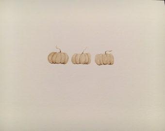 Mini ghost pumpkins