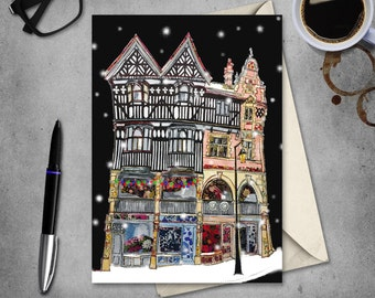 Chester - Chester Rows - Christmas card PACK of 10 - blank inside