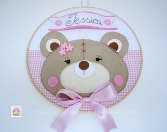 Little Bear girl wall/door hanger - Sign