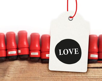 LOVE Mini Typo Rubber Stamp