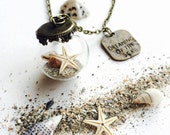 Dreaming of The Sea - Starfish Shell Natural Sand Glass Globe Jewellery Beach Summer