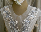 Silver and Pearl Beaded Appliques
