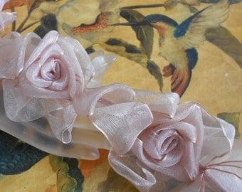 Pale Multi Colored Floral Trim
