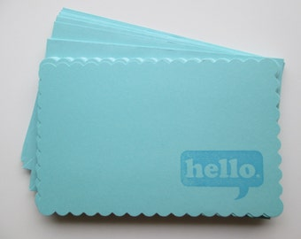 CLEARANCE Hello Cards >> set of 12 snail mail, stationery, note card, card set