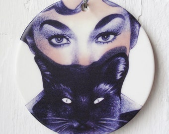 Cat Lady | Illustrated Ceramic Wall Art