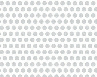 Windham - UPPERCASE - Silver Metallic Dot on White