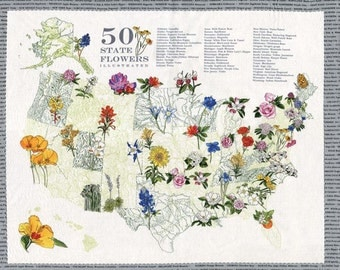 Moda - State Flowerscape by Turn of the Centuries - Grey Panel