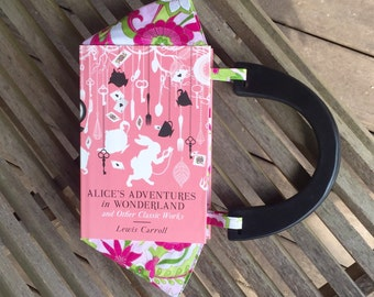 BOOK PURSE - Alice's Adventures in Wonderland and other classics - Lewis Carroll - ready to ship