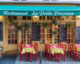 Paris Photography - La Petite Provence Restaurant, Fine Art Travel Photograph, Paris Decor, Gallery Wall, Paris Art Print, Large Wall Art