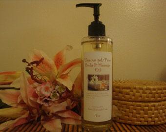 Coconut Vanilla Massage Oil 8oz Pump Bottle
